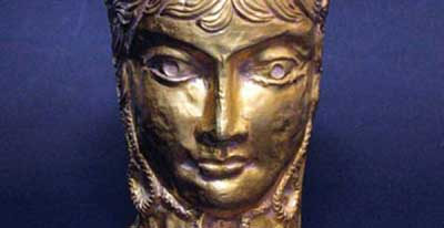 Caesar's bust and an ancient Iranian gold cup
