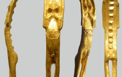 A golden find: unique Iron Age figurine from Bornholm