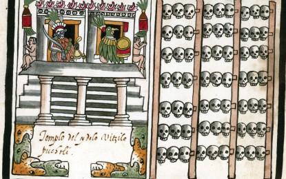 Aztec skull rack