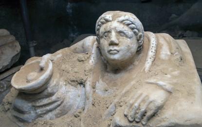 Undisturbed Etruscan tomb