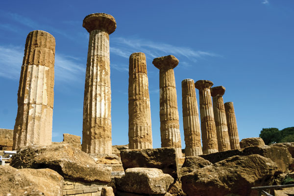 Temple of Heracles (6th century BC): dedicated to the hero worshipped by both the Greeks and (as Hercules) the Romans.