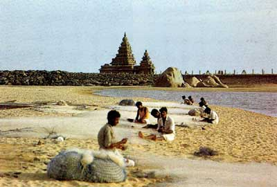 Tsunami Reveals Temple of Mahabalipuram