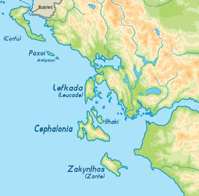 The Search for Homer's Ithaca - World Archaeology on the sirens odysseus, map of ithaca greece, map of ithaca island, map of ulysses journey,