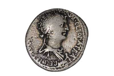 Image result for cleopatra coin